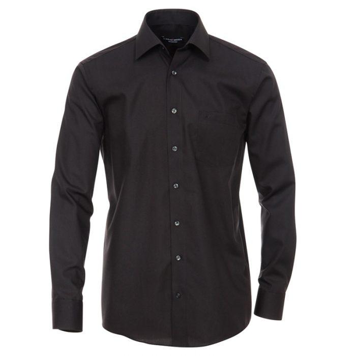 Casa moda zwart overhemd