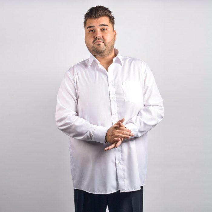 Casa moda wit overhemd