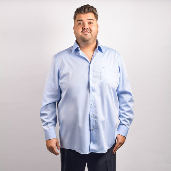 Casa moda licht blauw overhemd