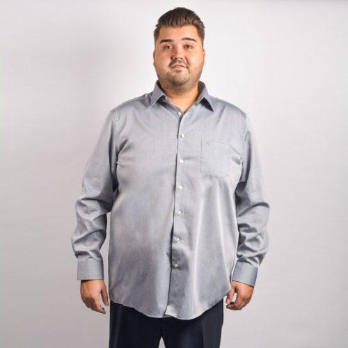 Casa moda licht grijs overhemd