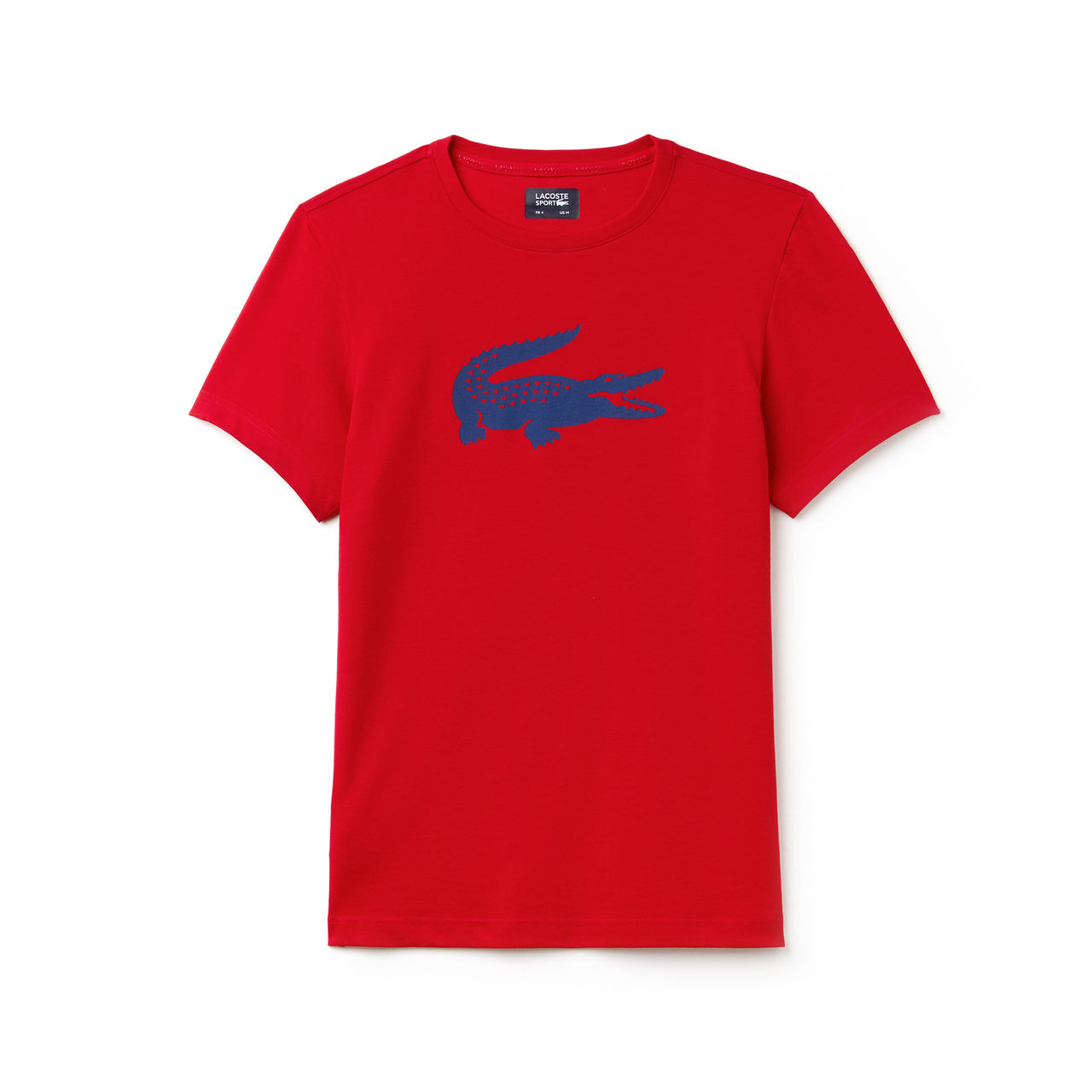 Lacoste t-shirt rood print