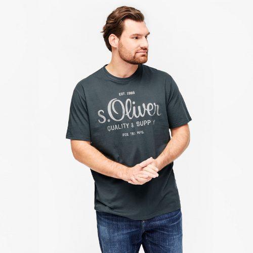 s.Oliver t-shirt zilveren print