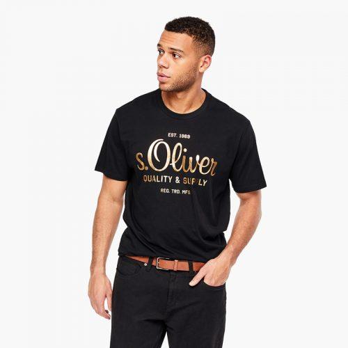 s.Oliver t-shirt gouden print