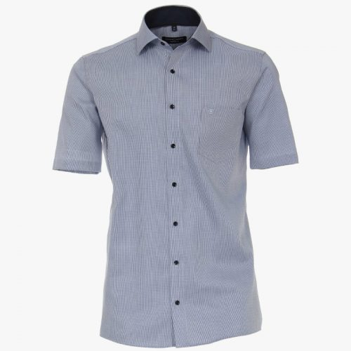 Casa moda overhemd printje blauw