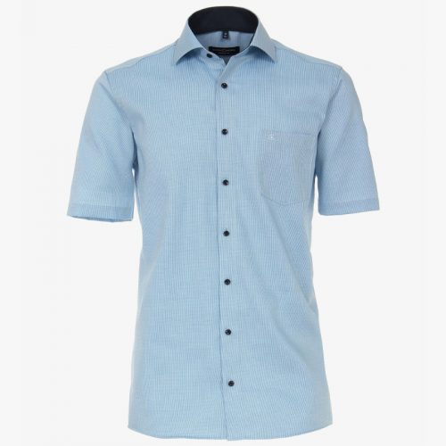 Casa moda overhemd printje turquoise