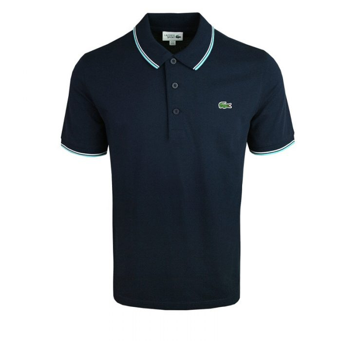 luxe Lacoste polo donker blauw