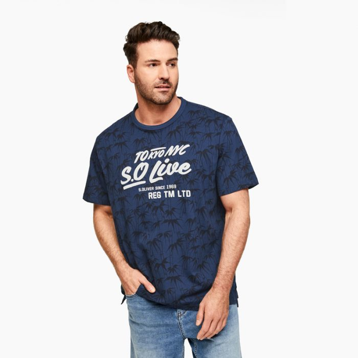 t-shirt donker blauw s.Oliver