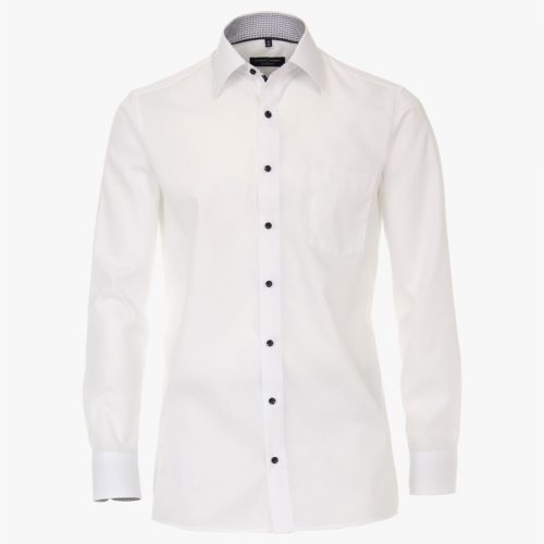 Casa moda overhemd printje nek wit