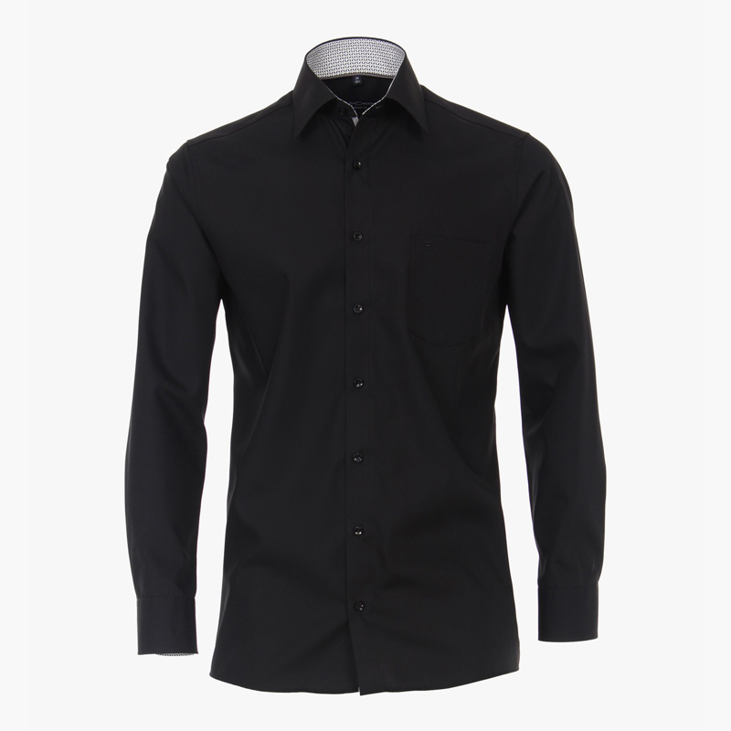 Casa moda overhemd printje nek zwart