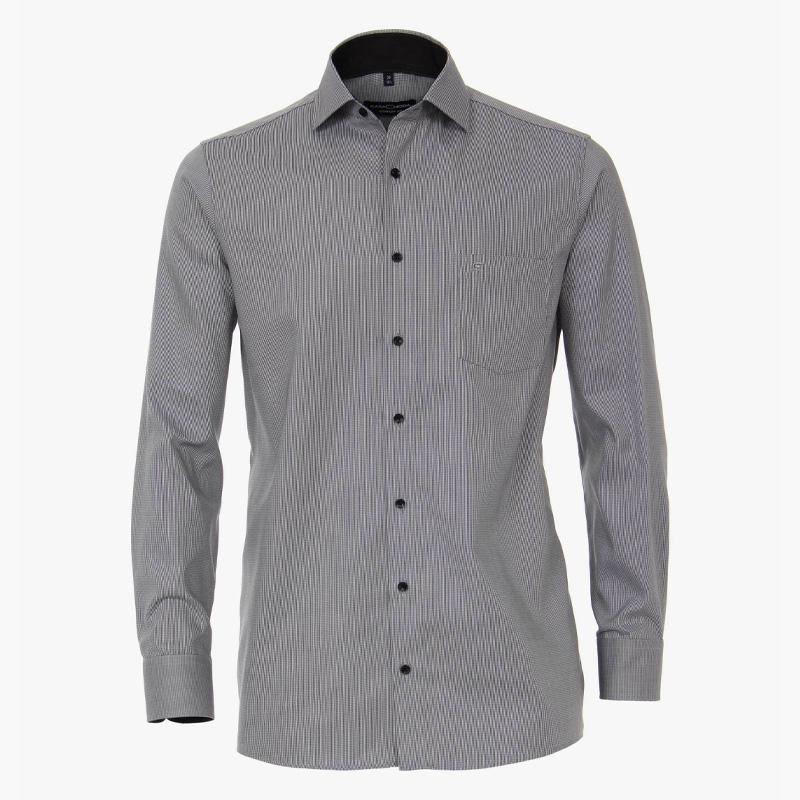Casa moda overhemd printje antraciet