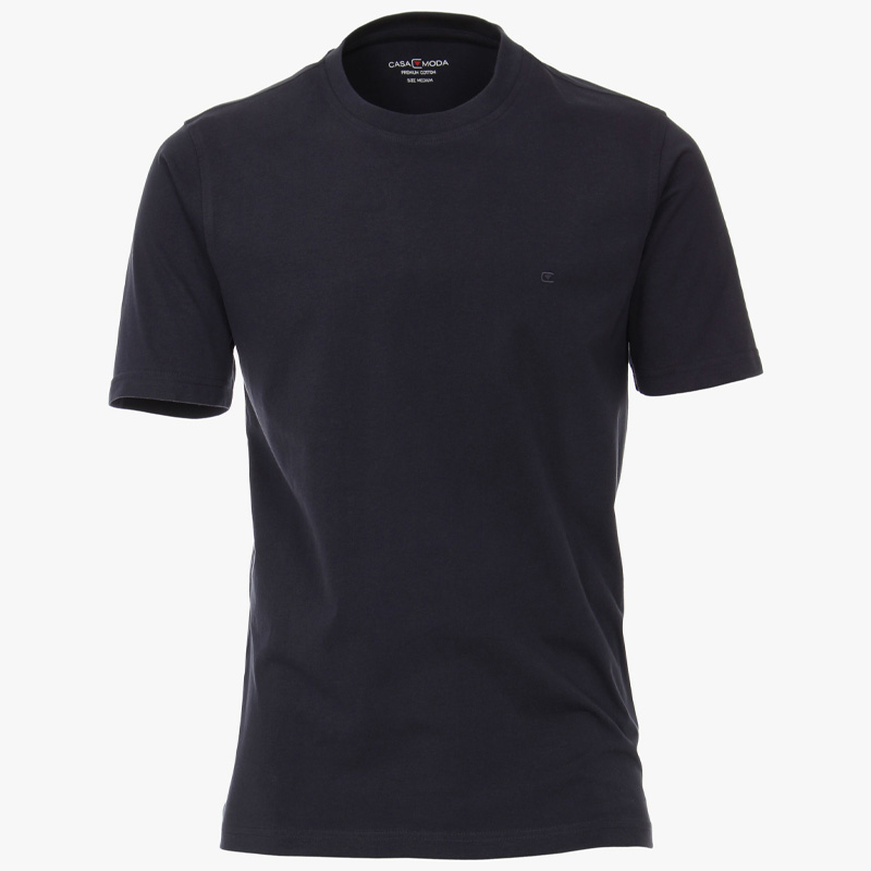 casa moda shirt donker blauw