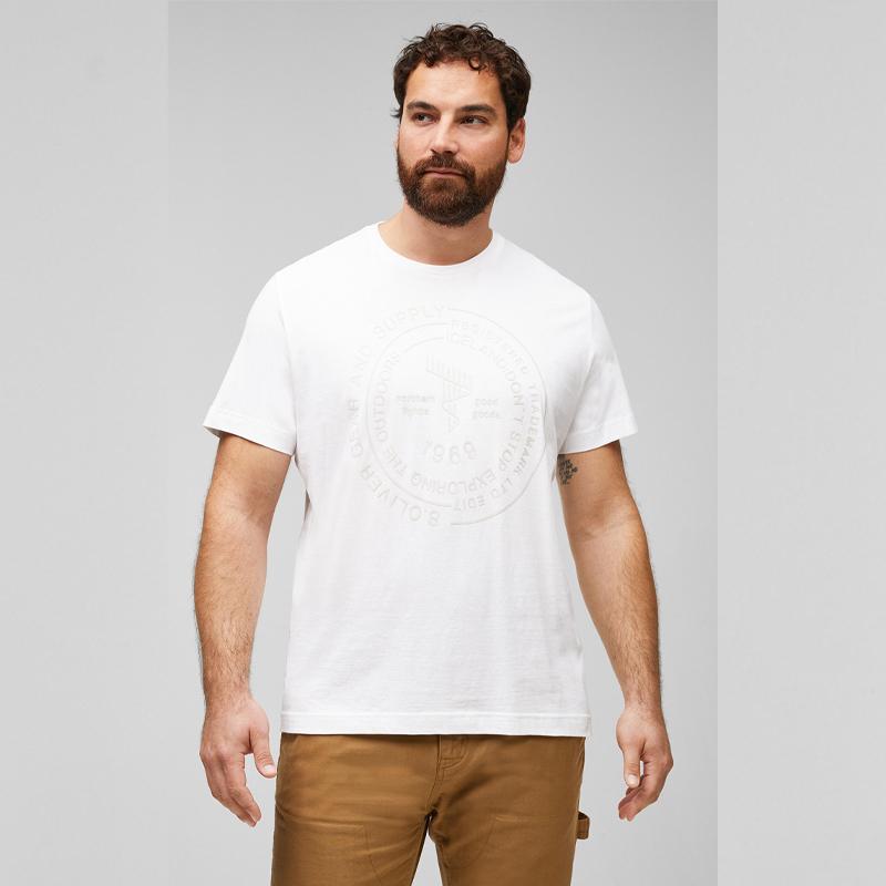 t-shirt s.Oliver print wit