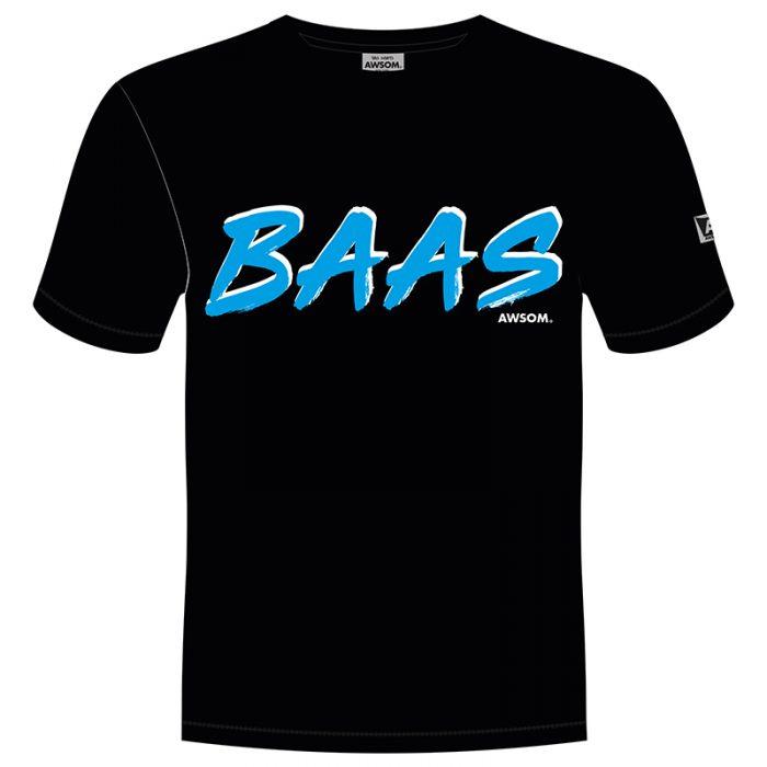 awsom t-shirt zwart baas