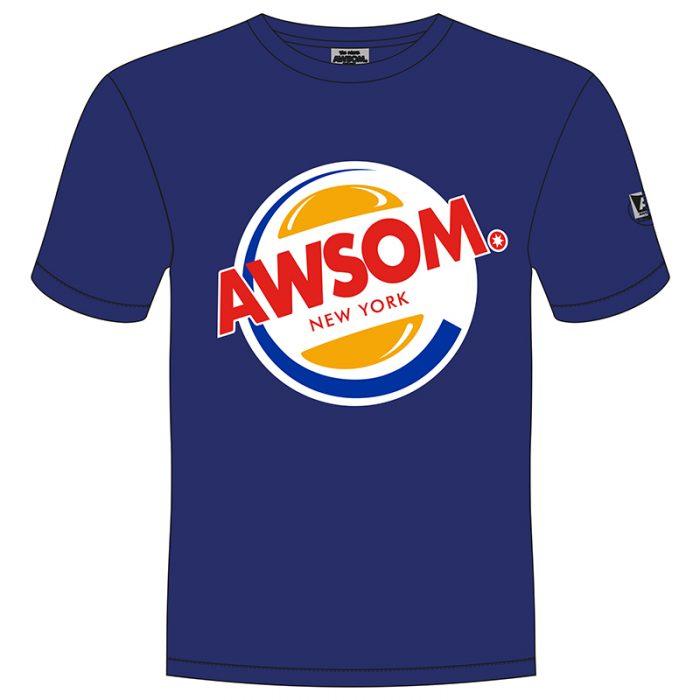 awsom t-shirt blauw burger