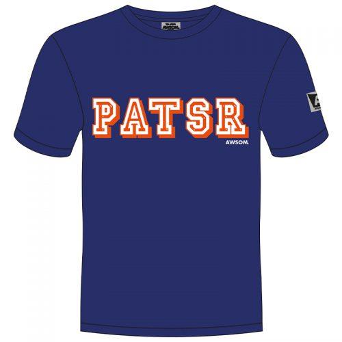 awsom t-shirt blauw patsr