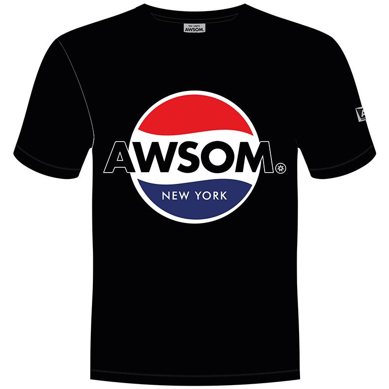 awsom t-shirt zwart