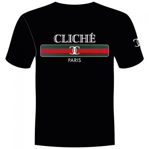 CLICHÉ t-shirt zwart